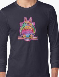 Cute Colorful Totoro! Tshirts + more! (watercolor) Jonny2may Long Sleeve T-Shirt