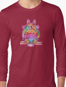 Cute Colorful Totoro! Tshirts + more! (watercolor) Jonny2may Long Sleeve T-Shirt