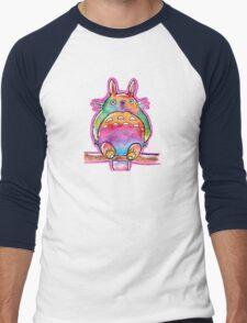 Cute Colorful Totoro! Tshirts + more! (watercolor) Jonny2may Men's Baseball ¾ T-Shirt