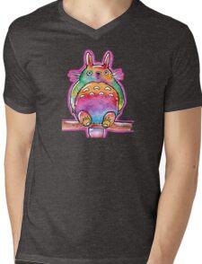 Cute Colorful Totoro! Tshirts + more! (watercolor) Jonny2may Mens V-Neck T-Shirt