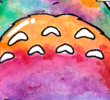 Cute Colorful Totoro! Tshirts + more! (watercolor)  Sticker