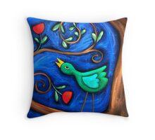 PASAREA  MAIASTRA  1  ( MIRACULOUS  BIRD  1 ) Throw Pillow
