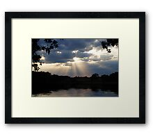 Beauty in the Storm Framed Print