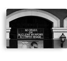 NO DRUGS Canvas Print