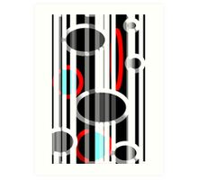 Abstract Lines and Elipses Art Print