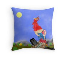Fenghuang (Chinese Phoenix) Throw Pillow