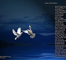 Love Cries Peace Version 3 by Amber Elizabeth Fromm Donais