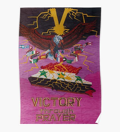 Victory Through Prayer Poster