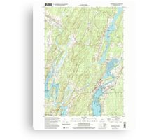 Maine USGS Historical Map Damariscotta 105065 2000 24000 Canvas Print