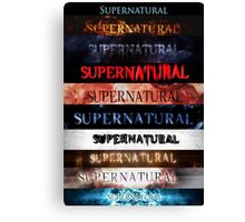 Supernatural intro seasons 1-10 Canvas Print