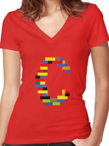 C Women's Fitted V-Neck T-Shirt