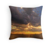 snowy estuary sunset - marlo far east gippsland Throw Pillow