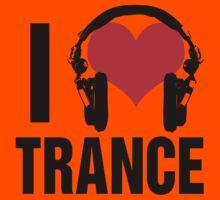 I Love Trance Music Kids Tee