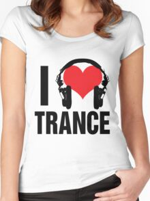 I Love Trance Music Women's Fitted Scoop T-Shirt
