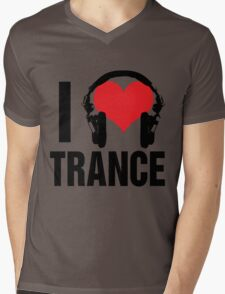 I Love Trance Music Mens V-Neck T-Shirt