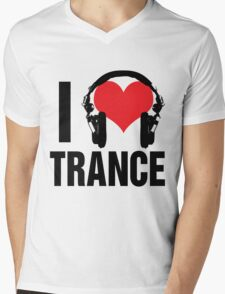 I Love Trance Music Mens V-Neck T-Shirt