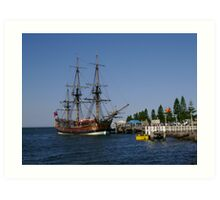 Tall Ship - HM Bark Endeavour Replica Art Print