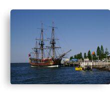 Tall Ship - HM Bark Endeavour Replica Canvas Print