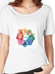 Happy Everything Granny Squares Women's Relaxed Fit T-Shirt