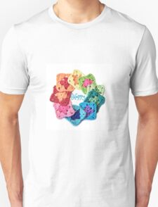 Happy Everything Granny Squares Unisex T-Shirt