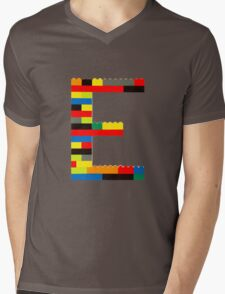 E Mens V-Neck T-Shirt