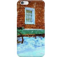 Wagon Cart in the Snow iPhone Case/Skin