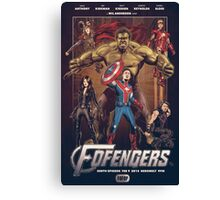 Wil Anderson's FOFENGERS (Fofop 200th episode poster) Canvas Print