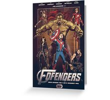 Wil Anderson's FOFENGERS (Fofop 200th episode poster) Greeting Card