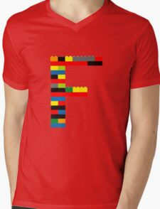 F Mens V-Neck T-Shirt