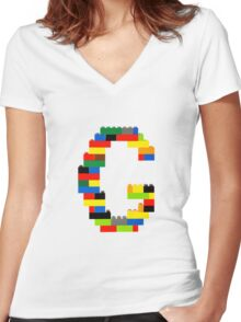 F t-shirt Women's Fitted V-Neck T-Shirt