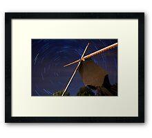 Startrails Lindemolen Framed Print