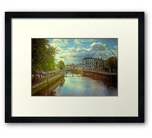 A River City - Cork, Southern Ireland Framed Print
