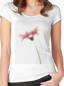 Delicately Painted High Key Gerbera Women's Fitted Scoop T-Shirt