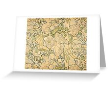 'Peonies' by Alphonse Mucha (Reproduction) Greeting Card