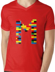 M t-shirt Mens V-Neck T-Shirt