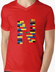 N Mens V-Neck T-Shirt