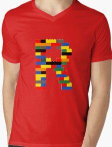 R Mens V-Neck T-Shirt