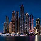 Dubai Marina Skyline by fernblacker