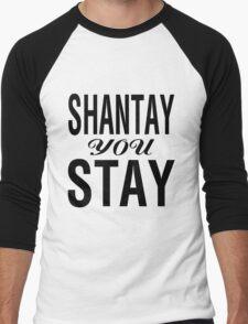 SHANTAY YOU STAY (BLK) Men's Baseball ¾ T-Shirt