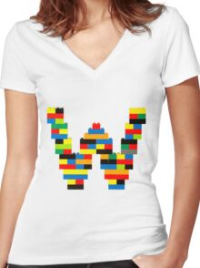 W Women's Fitted V-Neck T-Shirt