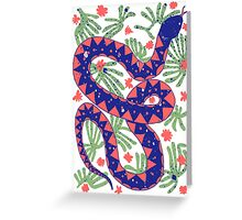 Snake and Flowers Greeting Card
