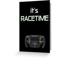 F1 steering wheel Greeting Card