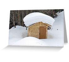 Snow on the roof Greeting Card