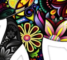 Aztec Elephant White Sticker
