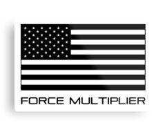 FORCE MULTIPLIER - AMERICAN FLAG (BLACK) Metal Print