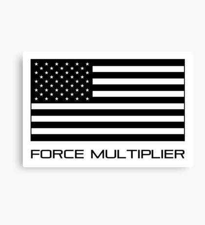 FORCE MULTIPLIER - AMERICAN FLAG (BLACK) Canvas Print