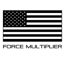 FORCE MULTIPLIER - AMERICAN FLAG (BLACK) Photographic Print