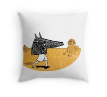 Anubis Fanboy on a Skateboard Throw Pillow