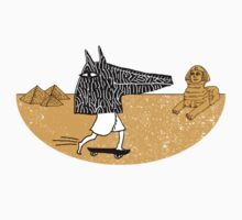 Anubis Fanboy on a Skateboard by SusanSanford
