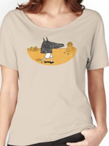 Anubis Fanboy on a Skateboard Women's Relaxed Fit T-Shirt